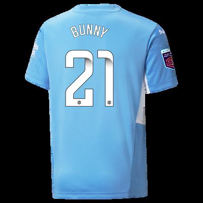 "[Pre-order] Kids Manchester City Home Shirt 21/22 with Khadija ""Bunny"" Shaw printing"