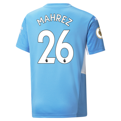Kids Manchester City Home Shirt 21/22 with Riyad Mahrez printing