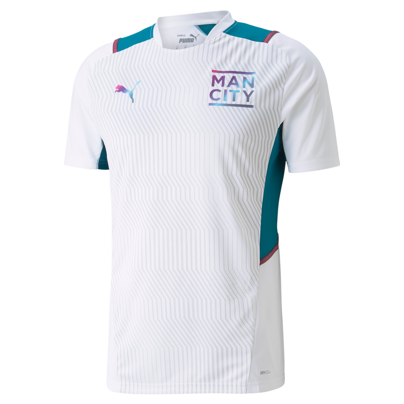 MCFC TR MENS JERSEY SS - white