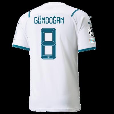 Manchester City Away Shirt 21/22 with İlkay Gündoğan printing