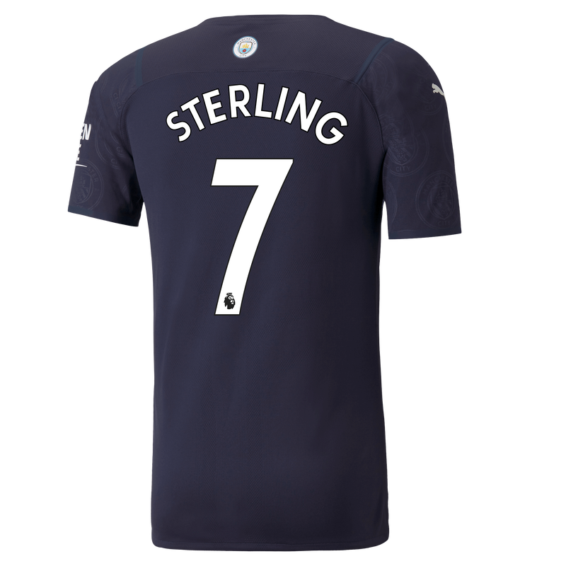 MCFC MW 3RD AUTHENTIC SHIRT SS-STERLING-EPL-NO-TRUE -