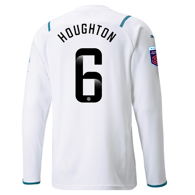 Manchester City Away Shirt Long Sleeve 21/22 with Steph Houghton printing