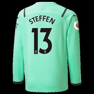 Kids Manchester City 3rd Goalkeeper Shirt 21/22 with Zack Steffen printing