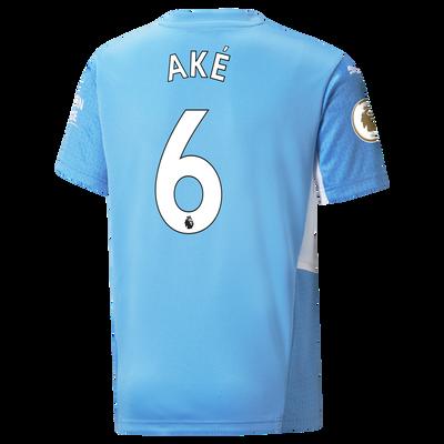 Kids Manchester City Home Shirt 21/22 with Nathan Aké printing