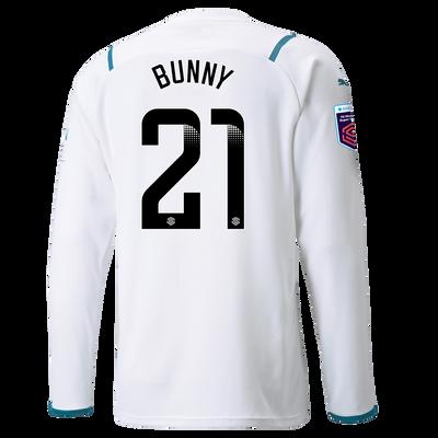 "[Pre-order] Manchester City Away Shirt Long Sleeve 21/22 with Khadija ""Bunny"" Shaw printing"