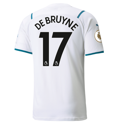 Manchester City Away Shirt 21/22 with Kevin de Bruyne printing
