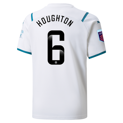 Kids Manchester City Away Shirt 21/22 with Steph Houghton printing
