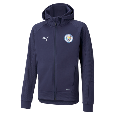 Kids Manchester City Casuals Hooded Jacket