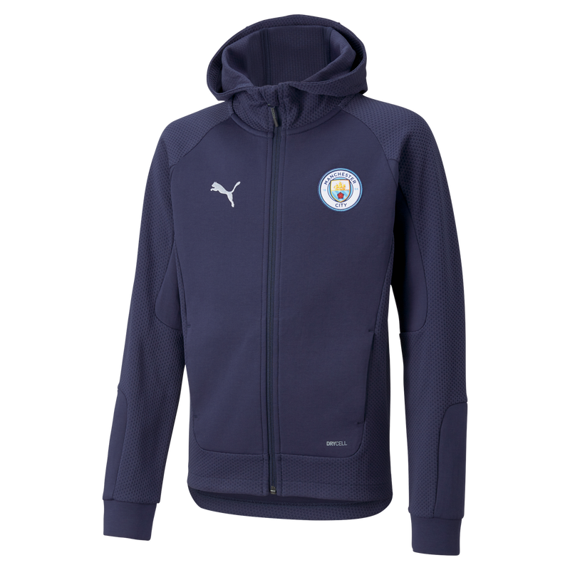 MCFC LW KIDS CASUALS HOODED JACKET - navy
