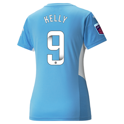 Womens Manchester City Home Shirt 21/22 with Chloe Kelly printing