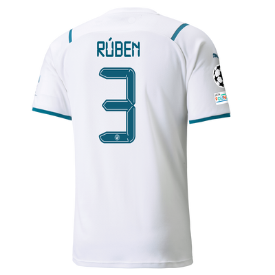 Manchester City Away Shirt 21/22 with Rúben Dias printing