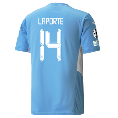 Manchester City Home Shirt 21/22 with Aymeric Laporte printing