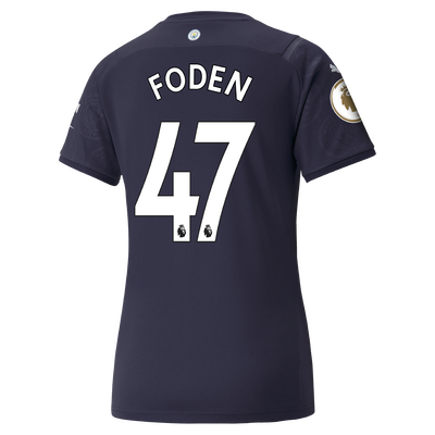 Womens Manchester City 3rd Shirt 21/22 with Phil Foden printing