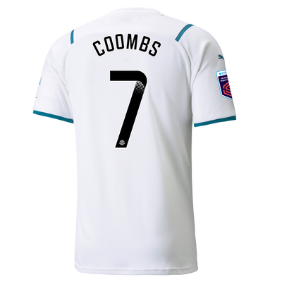 Manchester City Away Shirt 21/22 with Laura Coombs printing