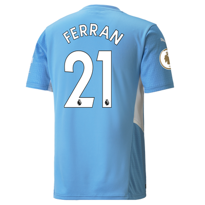 Manchester City Home Shirt 21/22 with Ferran Torres printing