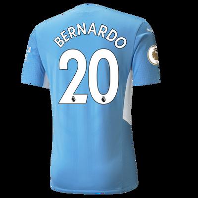 Manchester City Home Authentic Shirt 21/22 with Bernardo Silva printing