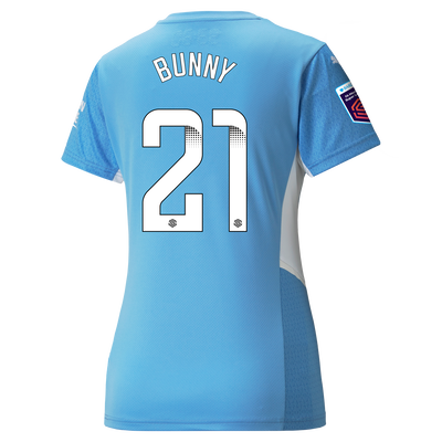 """[Pre-order] Womens Manchester City Home Shirt 21/22 with Khadija """"Bunny"""" Shaw printing"""