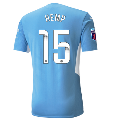 Manchester City Authentic Home Shirt 21/22 with Lauren Hemp printing