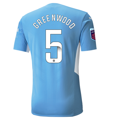 Manchester City Authentic Home Shirt 21/22 with Alex Greenwood printing