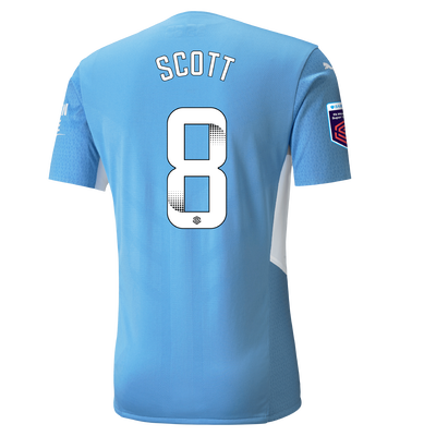 Manchester City Authentic Home Shirt 21/22 with Jill Scott printing