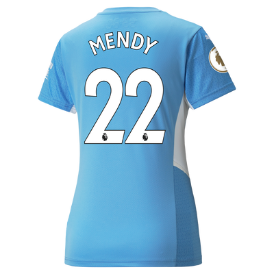 Womens Manchester City Home Shirt 21/22 with Benjamin Mendy printing